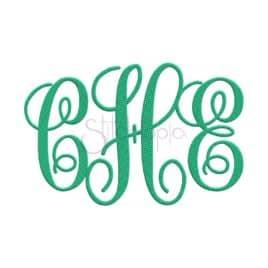 monogram kk embroidery font