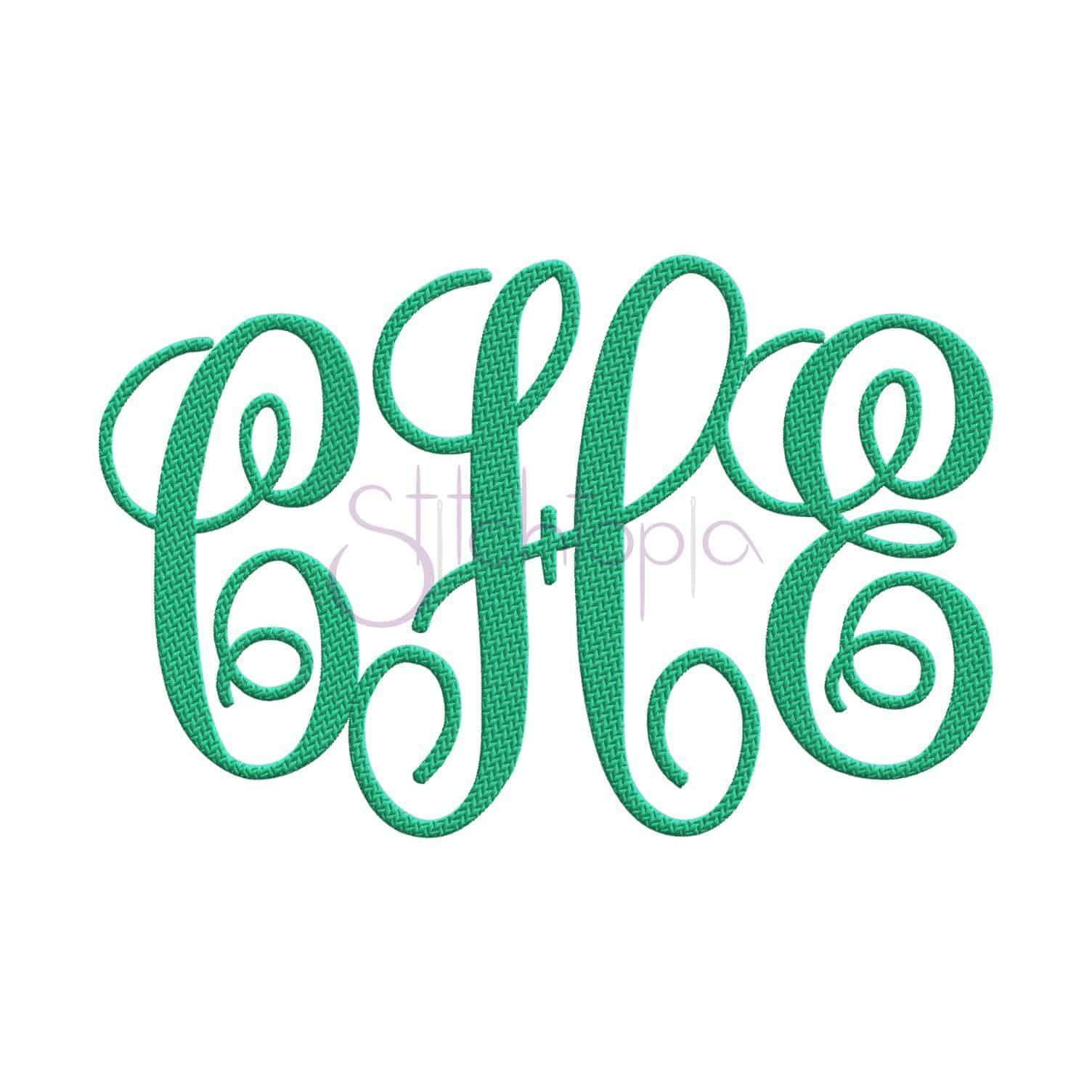 elegant embroidery monogram