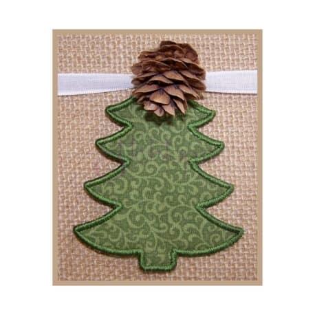 Stitchtopia Christmas Tree Gift Tag