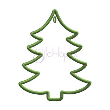 Stitchtopia Christmas Tree Gift Tag b
