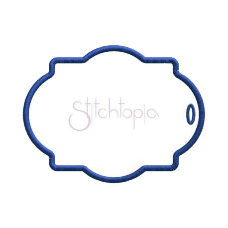 Stitchtopia Quatrefoil Gift Tag #1