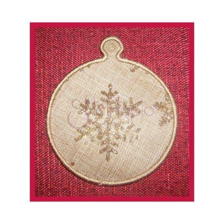Stitchtopia Round Ornament Gift Tag