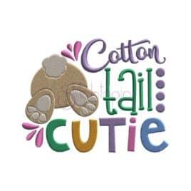 Cotton Tail Cutie Embroidery Design