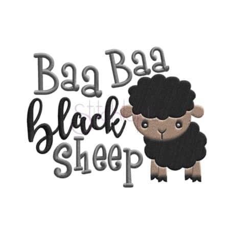 Stitchtopia Baa Baa Black Sheet Embroidery Design