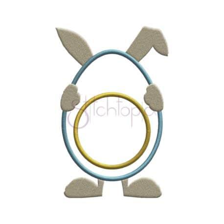 Stitchtopia Bunny Egg Applique Frame