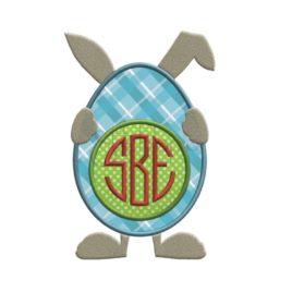 Bunny Egg Applique Frame