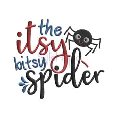 Stitchtopia Itsy Bitsy Spider Embroidery Design