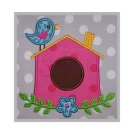 birdhouse machine applique design