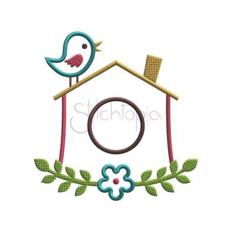 Stitchtopia Birdhouse Applique Design - Digital Image