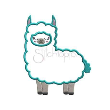 Stitchtopia Llama Applique Design