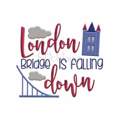 london bridge machine embroidery design