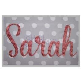 Sarah 1 Embroidery Font