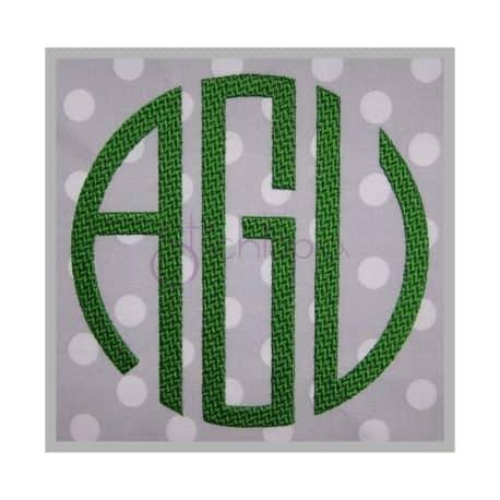 circle embroidery monogram
