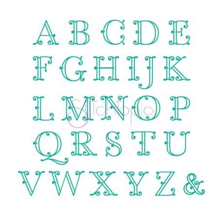 Stitchtopia Victorian Applique Monogram Set b