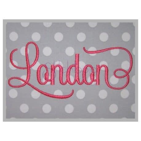 London Machine Embroidery Font 2