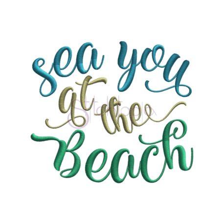 Stitchtopia Sea You at the Beach Embroidery Design