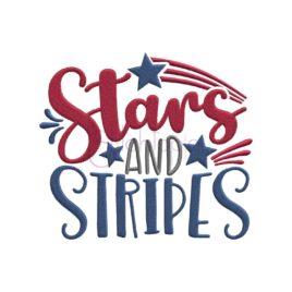 Stars & Stripes Embroidery Design