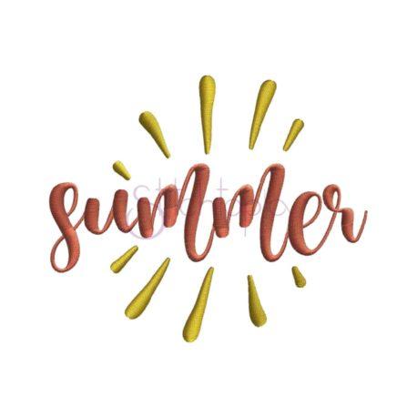 Stitchtopia Summer Embroidery Design