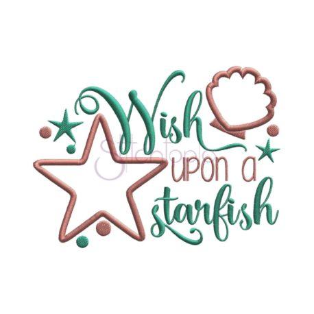 Stitchtopia  Wish Upon a Starfish Embroidery Design