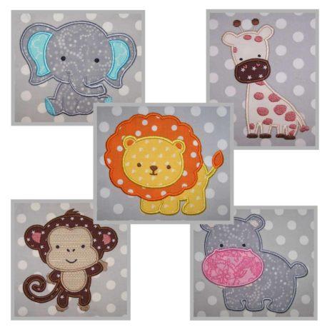 baby animals applique set