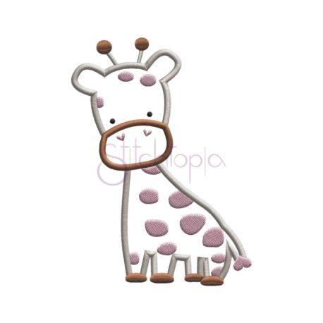 Stitchtopia Giraffe Applique Design