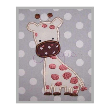giraffe machine applique design