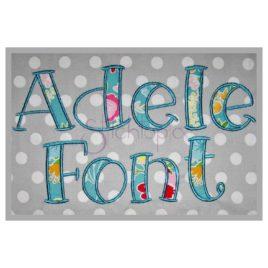 Adele Applique Font – 2.5″ 3″ 3.5″ 4″