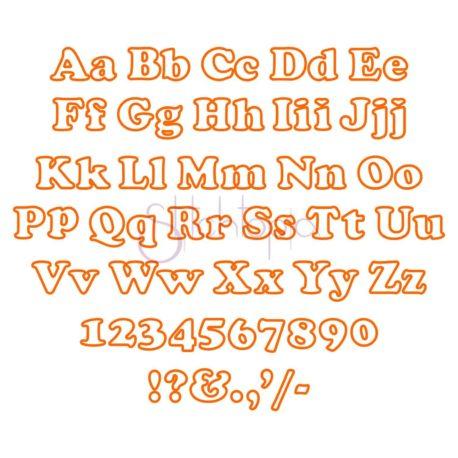 Stitchtopia Maxi Applique Font - All Letters