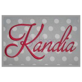 Kandia Embroidery Font #1 – 1″ 1.5″ 2″ 2.5″ 3″