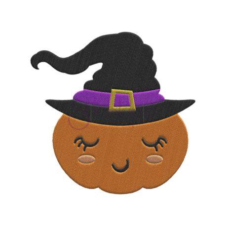 Stitchtopia Witch Pumpkin Embroidery Design