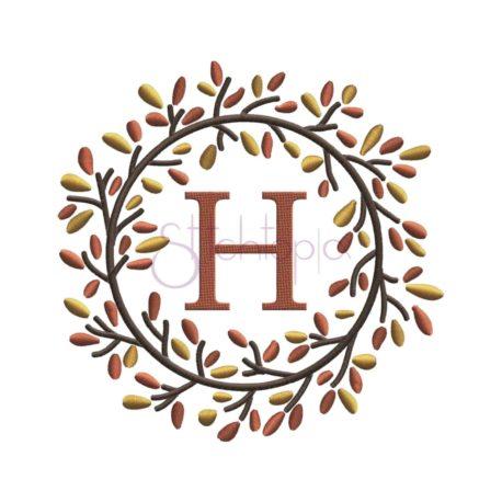 Stitchtopia & HoneybeeSVG Autumn Foliage Wreath Embroidery Frame