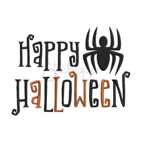 Stitchtopia & HoneybeeSVG Happy Halloween Embroidery Design