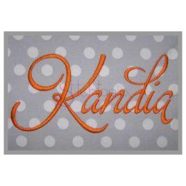 Kandia Embroidery Font #2 – 1″ 1.5″ 2″ 2.5″ 3″