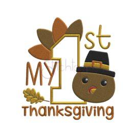 My First Thanksgiving Applique Design