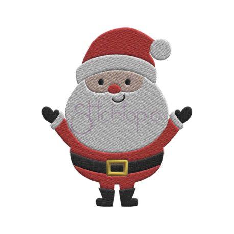Stitchtopia Santa Embroidery Design 2018