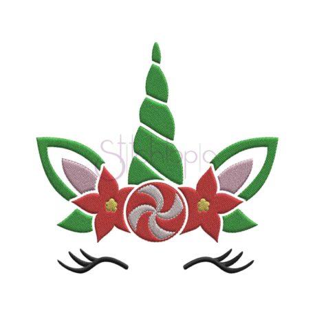 Stitchtopia Christmas Unicorn Embroidery Design