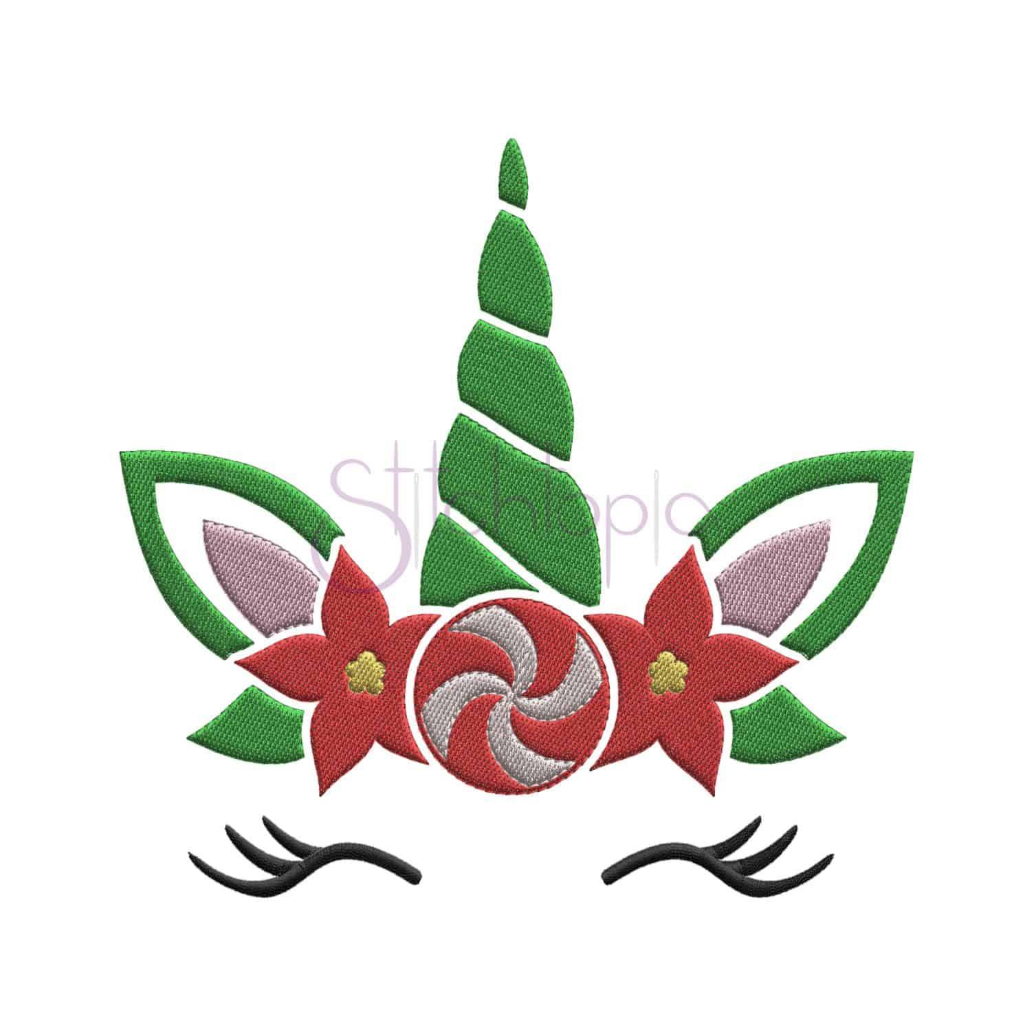 Christmas Unicorn.Christmas Unicorn Embroidery Design