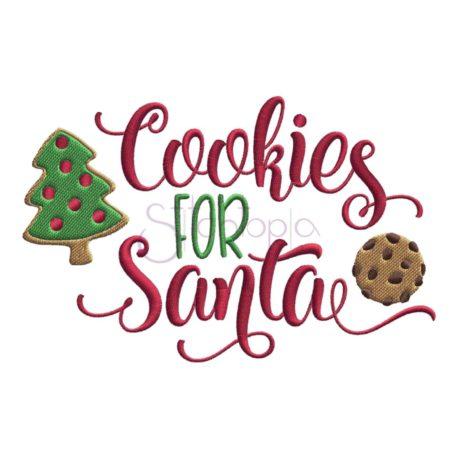 Stitchtopia Cookies for Santa Embroidery Design