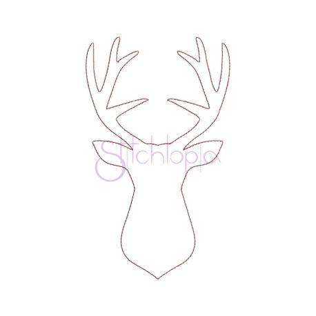 Stitchtopia Deer Silhouette Bean Stitch Applique Design