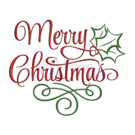 Stitchtopia Merry Christmas Embroidery Design 2018