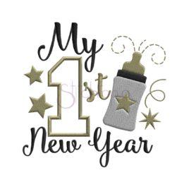 My First New Year Applique Design