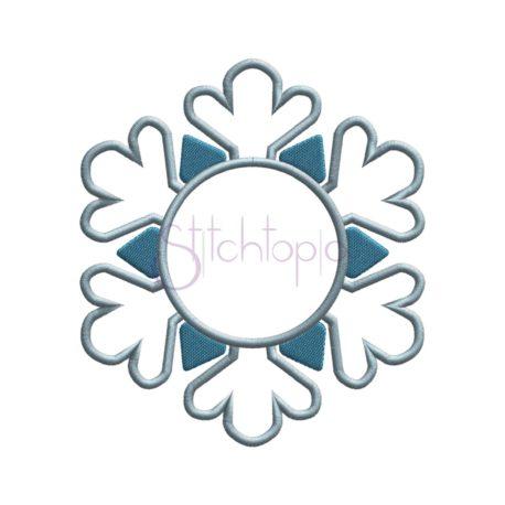 Stitchtopia Snowflake Applique Frame