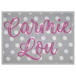 Carmie Lou Embroidery Font – 1″ 1.5″ 2″ 2.5″