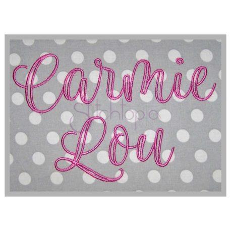 Stitchtopia Carmie Lou Embroidery Font