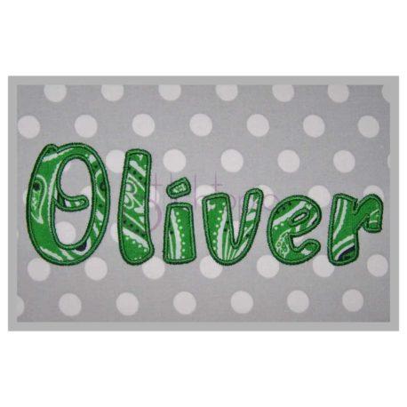 Stitchtopia Oliver Applique Font