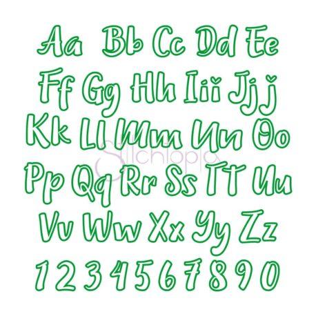 Stitchtopia Oliver Applique Font - All Letters