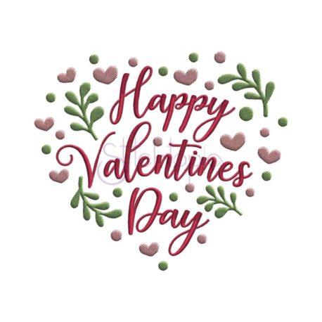 Stitchtopia Happy Valentine's Day Heart Embroidery Design