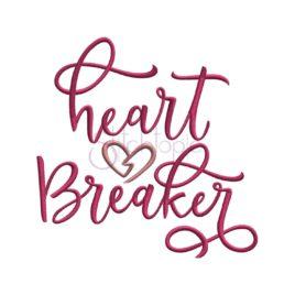 Heart Breaker Embroidery Design