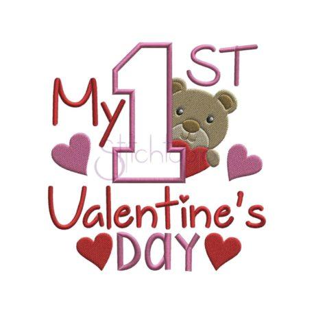 Stitchtopia My First Valentine's Day Applique