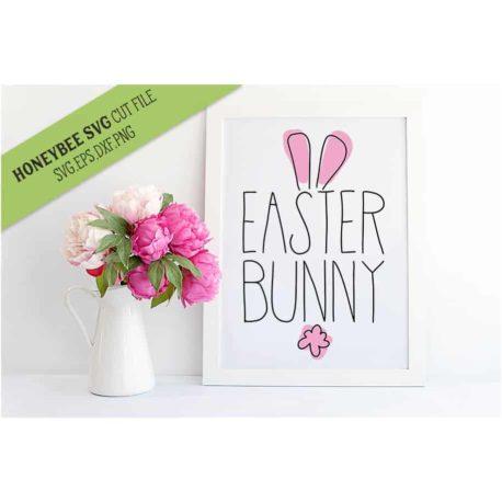 HoneybeeSVG Easter Bunny Lines SVG Cut File